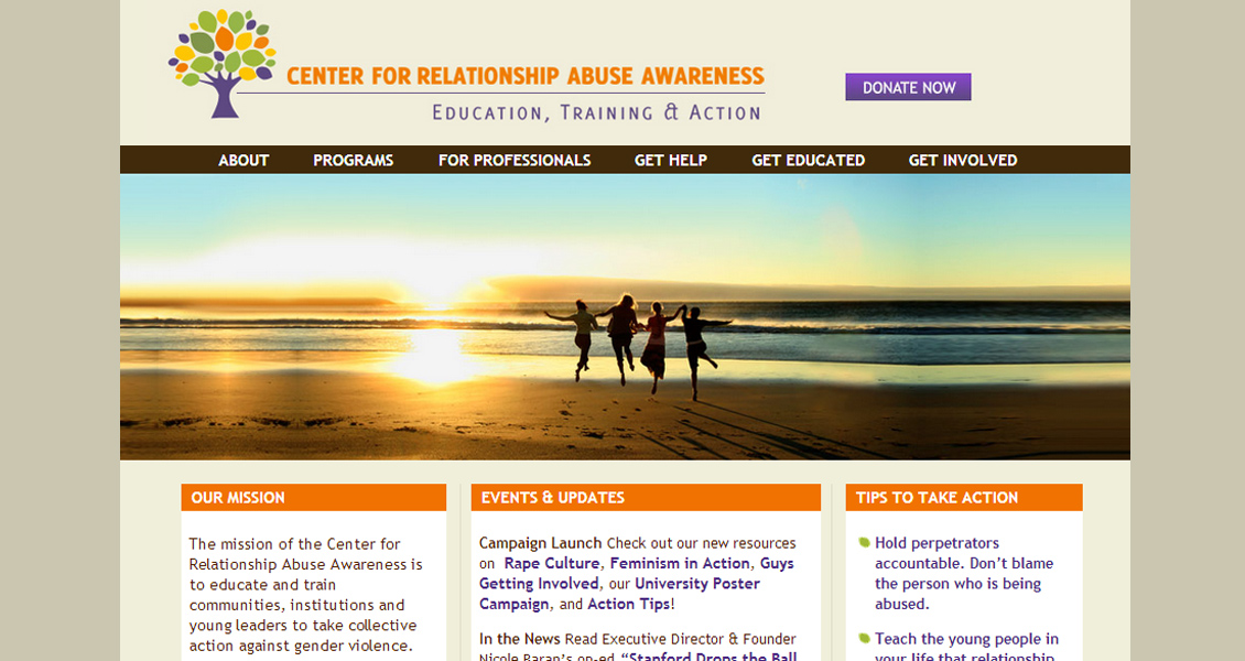 Center For Relationship Abuse Awareness, Stanford University, California